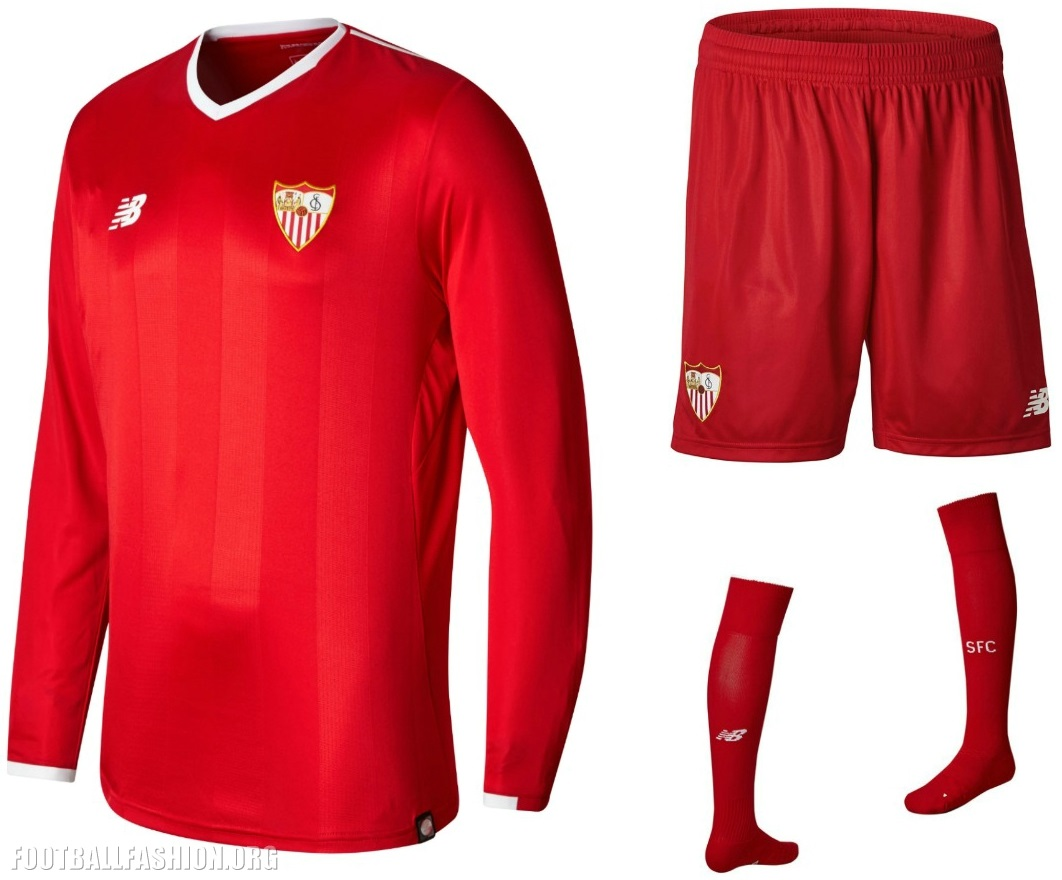 7e293d969abb4 Sevilla FC 2017 18 New Balance Kits - FOOTBALL FASHION.ORG