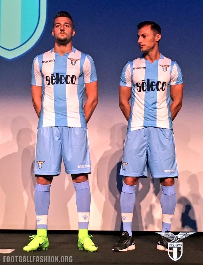 31617c722 SS Lazio 2017 18 Macron Home and Europa League Kits – FOOTBALL ...