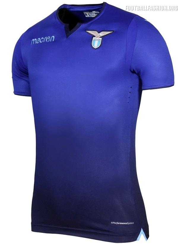 b82b3fe2f8 SS Lazio 2017 2018 Macron Blue Third Football Kit, Soccer Jersey, Shirt,  Gara