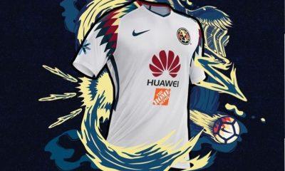 Club América 2017 2018 Nike White Away Soccer Jersey, Shirt, Football Kit, Equipacion, Camiseta, Playera, Uniforme