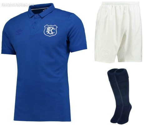 Everton FC Goodison Park 125th Anniversary 2017 2018 Umbro Home Football Kit, Soccer Jersey, Shirt