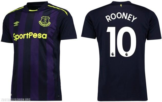 Everton FC 2017 2018 Umbro Third Football Kit, Soccer Jersey, Shirt, Camiseta, Camisa, Maillot