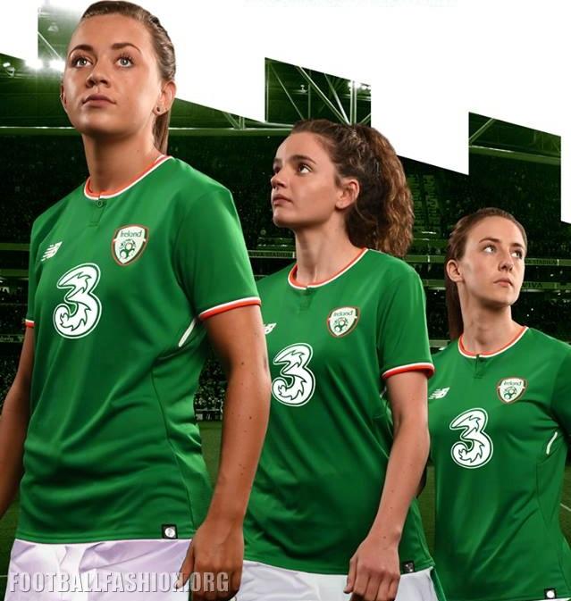 best website 367be 9328a Republic of Ireland 2017/18 New Balance Home Kit - FOOTBALL ...