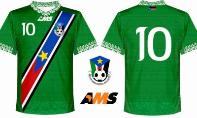 South Sudan 2017 2018 AMS Away Football Kit, Soccer Jersey, Shirt