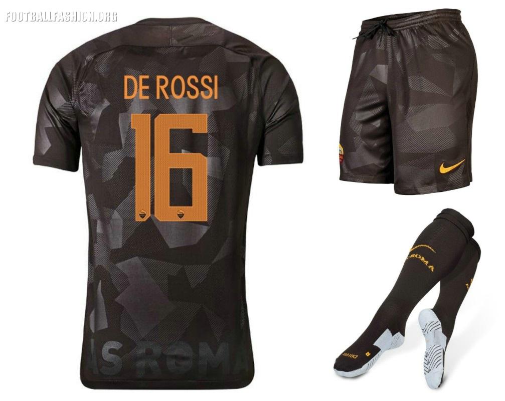 16139f8f3 AS Roma 2017 18 Nike Third Kit - FOOTBALL FASHION.ORG