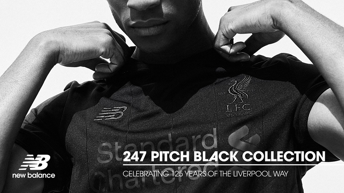 Liverpool FC 201718 New Balance Pitch Black Kit FOOTBALL