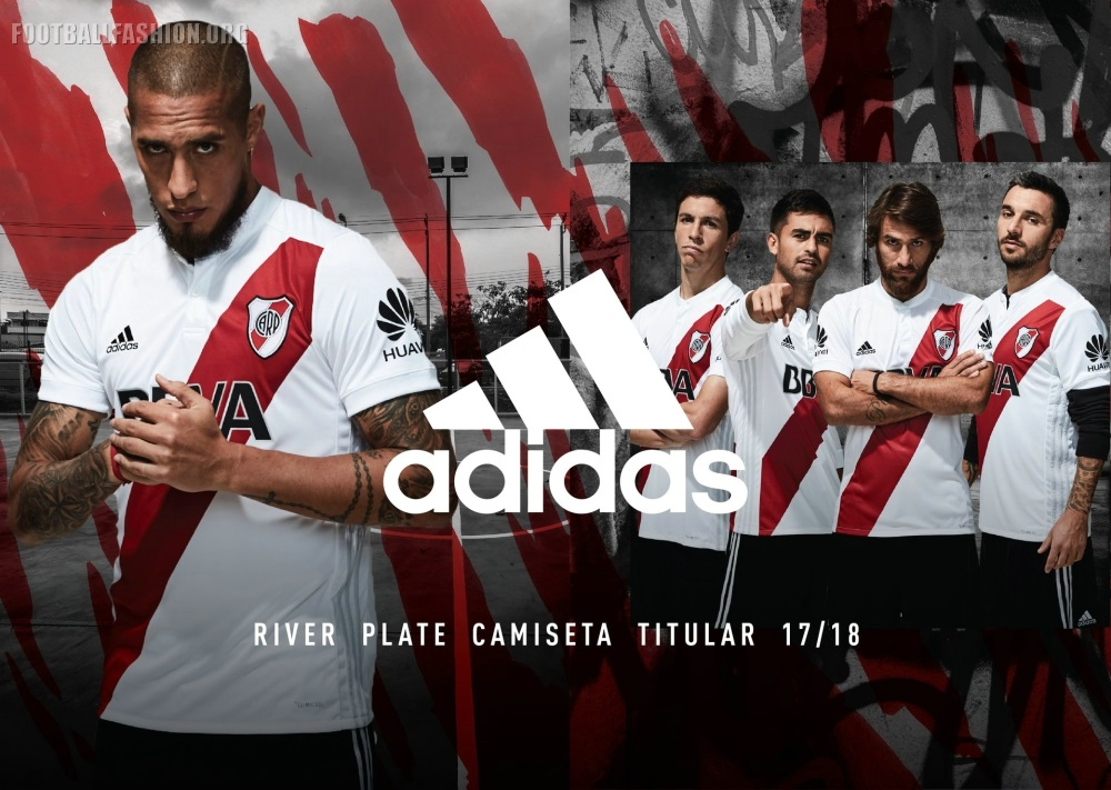 River Plate: River Plate 2017/18 Adidas Home Kit