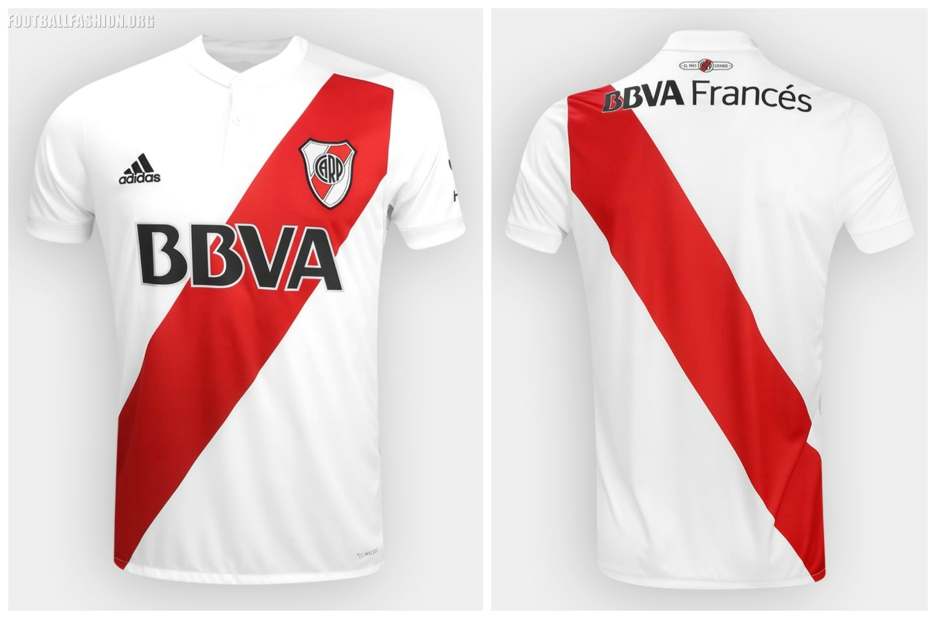 eee3f90639d River Plate 2017 2018 adidas Home Football Kit, Soccer Jersey, Shirt,  Camiseta,