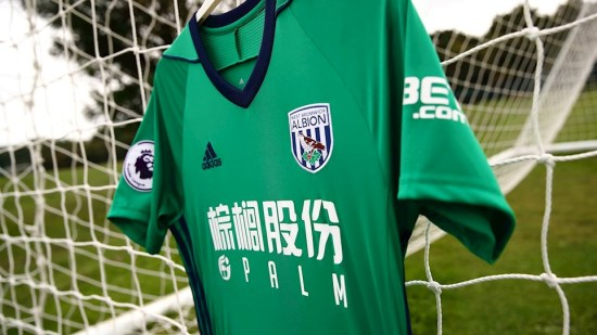 West Bromwich Albion 2017 2018 adidas Green Third Football Kit, Soccer Jersey, Shirt