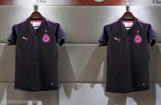 Chivas de Guadalajara 2017 2018 PUMA Project Pink Soccer Jersey, Shirt, Football Kit, Camiseta de Futbol, Equipacion, Rosada