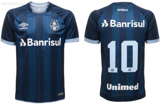 Grêmio 2017 2018 Umbro Third Football Kit, Soccer Jersey, Shirt, Camisa III