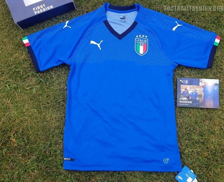 bf3f8c7e8b5 Italy 2018 PUMA Blue Home Football Kit, Shirt, Soccer Jersey, Italia,  Camiseta