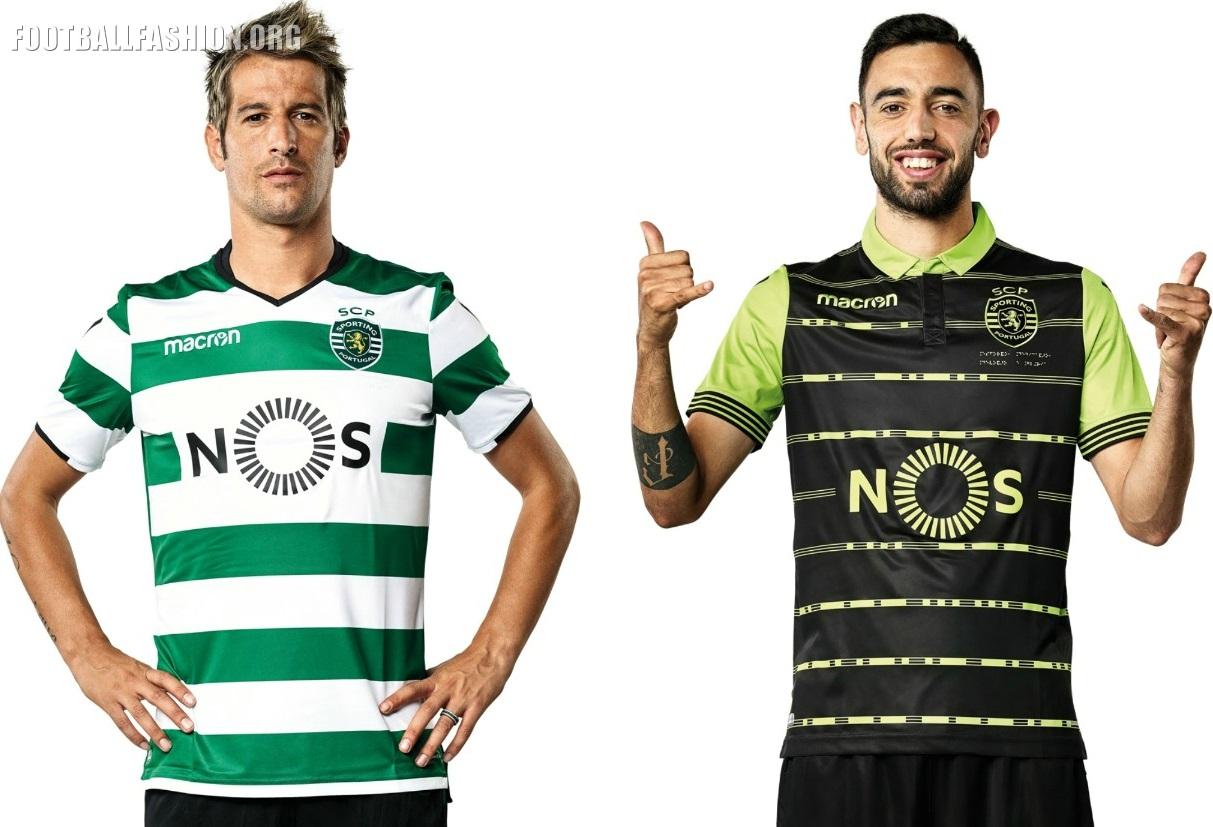 72f325d5319 Sporting Clube de Portugal 2017 2018 Macron Football Kit, Soccer Jersey,  Shirt, Camiseta