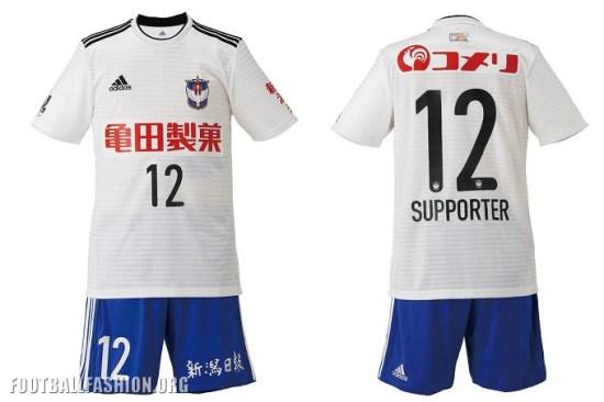Albirex Niigata 2018 adidas Home and Away Football Kit, Soccer Jersey, Shirt
