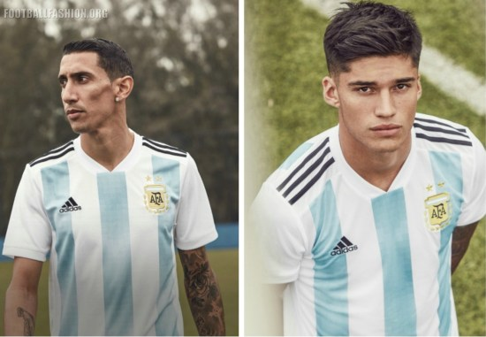 Argentina 2018 World Cup adidas Home Football Kit, Soccer Jersey, Shirt, Camiseta, Equipacion, Copa Mundial