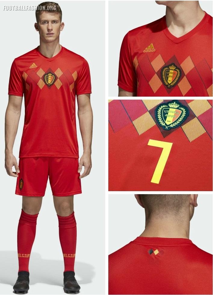 9f5d893e852 Belgium 2018 World Cup adidas Home Football Kit, Soccer Jersey, Shirt,  Maillot,