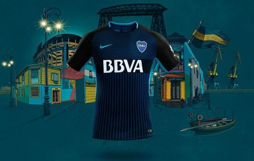 Boca Juniors 2017 2018 Nike Third Football Kit, Soccer Jersey, Shirt, Equipacion, Camiseta Tercera