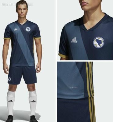 Bosnia and Herzegovina 2018 2019 adidas Home Football Kit, Soccer Jersey, Shirt, Dres