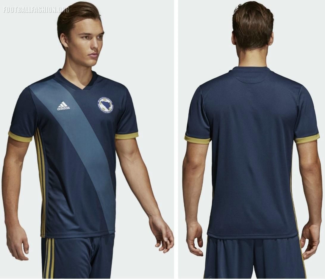 ff6a5c20a Bosnia and Herzegovina 2018 2019 adidas Home Football Kit, Soccer Jersey,  Shirt, Dres