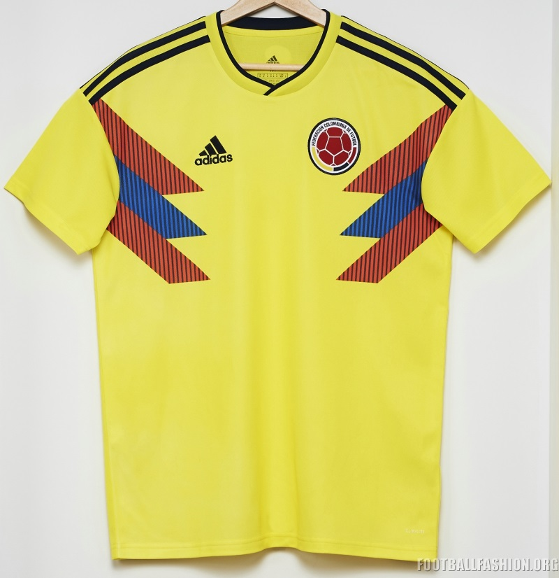 73a04fd373c Colombia 2018 World Cup adidas Home Kit - FOOTBALL FASHION.ORG