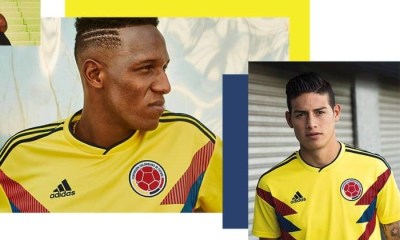 Colombia 2018 World Cup adidas Home Football Kit, Soccer Jersey, Shirt, Camiseta de Futbol Copa Mundial, Equipacion, Playera