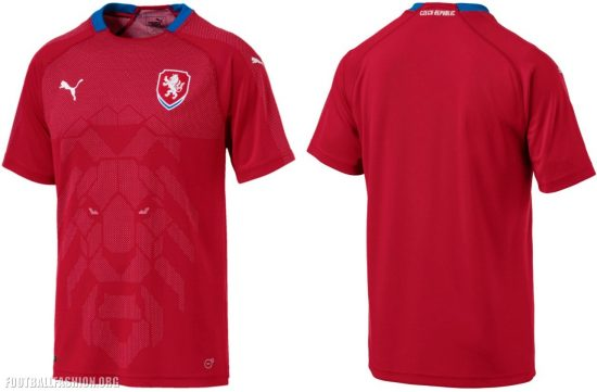Czech Republic 2018 2019 Red Home Football Kit, Soccer Jersey, Shirt, nové dresy pro