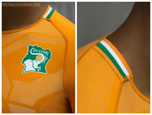 Ivory Coast 2018 2019 PUMA Home Football Kit, Soccer Jersey, Shirt, Maillot, Côte d'Ivoire