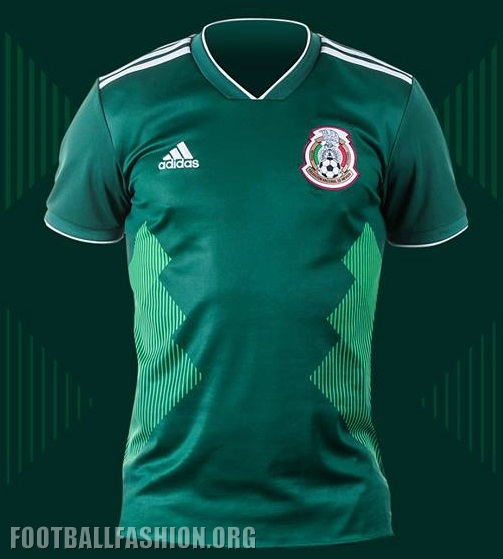 the best attitude 2ada9 d1218 Mexico 2018 World Cup adidas Home Jersey - FOOTBALL FASHION.ORG