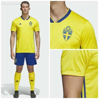 Sweden 2018 World Cup 2019 Yellow adidas Home Football Kit, Soccer Jersey, Shirt, Sverige SvFF matchtröja