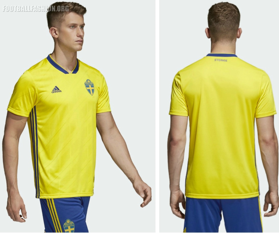 Sweden 2018 World Cup Adidas Home Kit Football Fashion Org