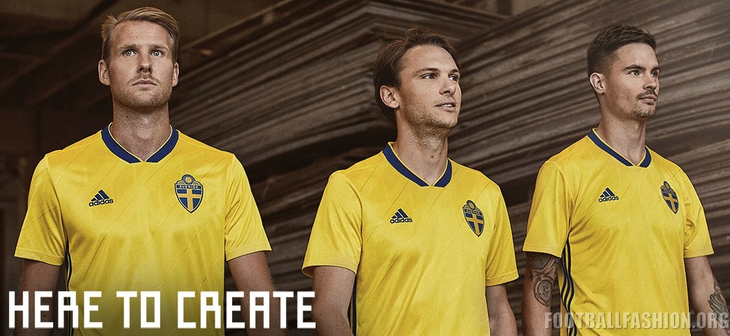 Sweden 2018 World Cup adidas Home Kit – FOOTBALL FASHION.ORG 27f76e758