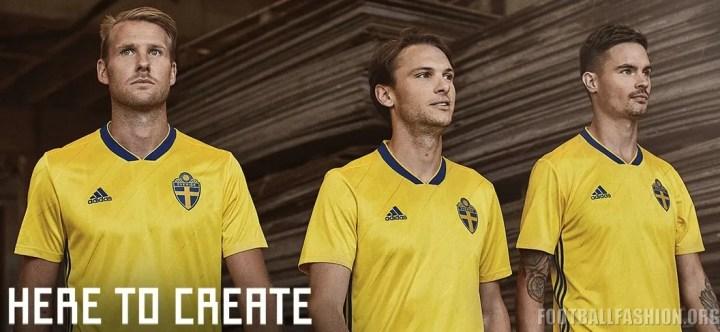 Sweden 2018 World Cup 2019 adidas Home Football Kit, Soccer Jersey, Shirt, Sverige SvFF matchtröja
