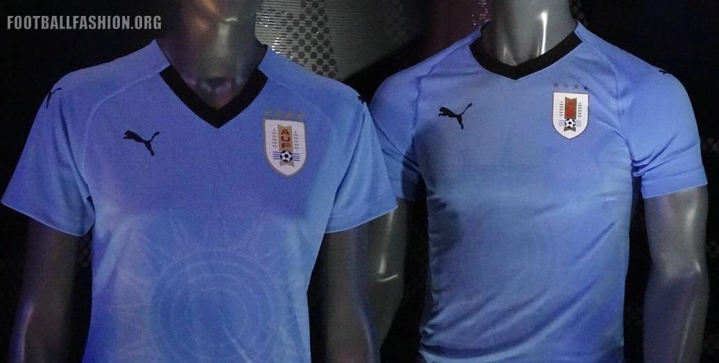 43faf1817 Uruguay 2018 World Cup PUMA Home Kit – FOOTBALL FASHION.ORG