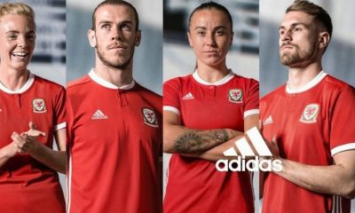 Wales 2018 2019 adidas Home Football Kit, Soccer Jersey, Shirt