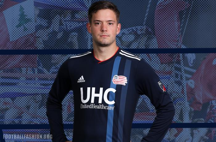 8dd1fadd227 New England Revolution 2018 2019 adidas Home Soccer Jersey, Football Kit,  Shirt, Camiseta