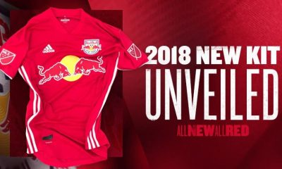 e2100391d5ca9 New York Red Bulls 2018 adidas Red Soccer Jersey, Football Shirt, Kit,  Camiseta ...