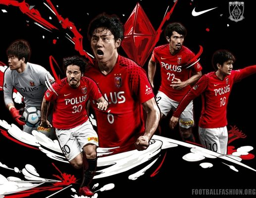 Urawa Red Diamonds 2018 Nike Home and Away Football Kit, Soccer Jersey, Shirt