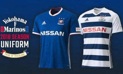 Yokohama F. Marinos 2018 adidas Home and Away Football Kit, Soccer Jersey, Shirt