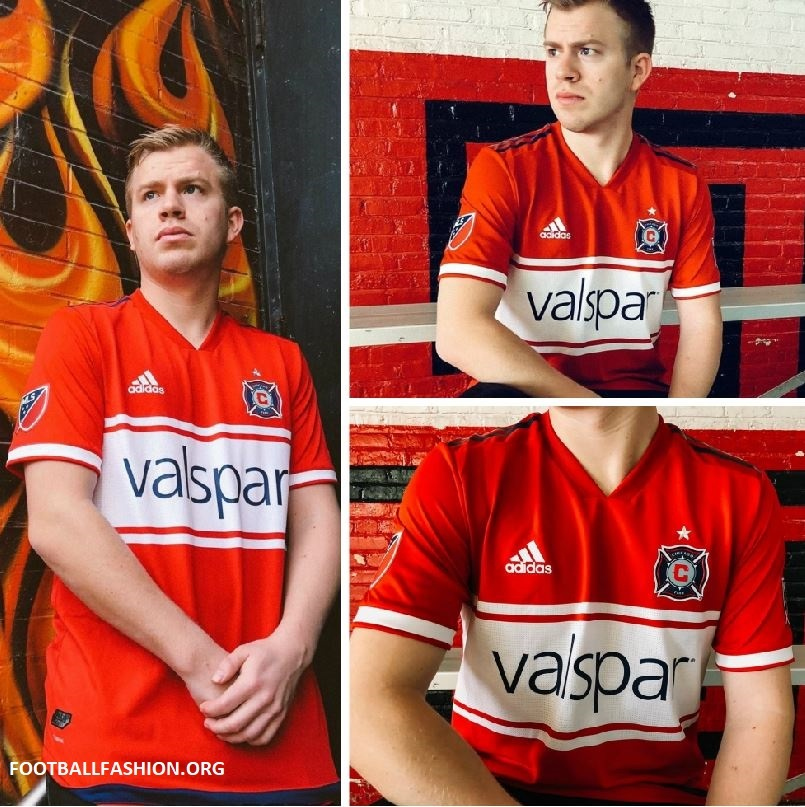 best service 8d9b9 34c61 Chicago Fire 2018 adidas Home Jersey - FOOTBALL FASHION.ORG