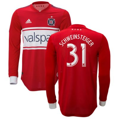 Chicago Fire 2018 2019 adidas Home Soccer Jersey, Shirt, Football Kit, Camiseta de Futbol