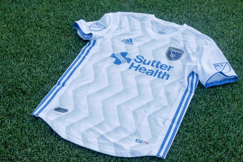 a566fdb95c6 San Jose Earthquakes 2018 2019 adidas MLS White Away Soccer Jersey, Shirt,  Football Kit