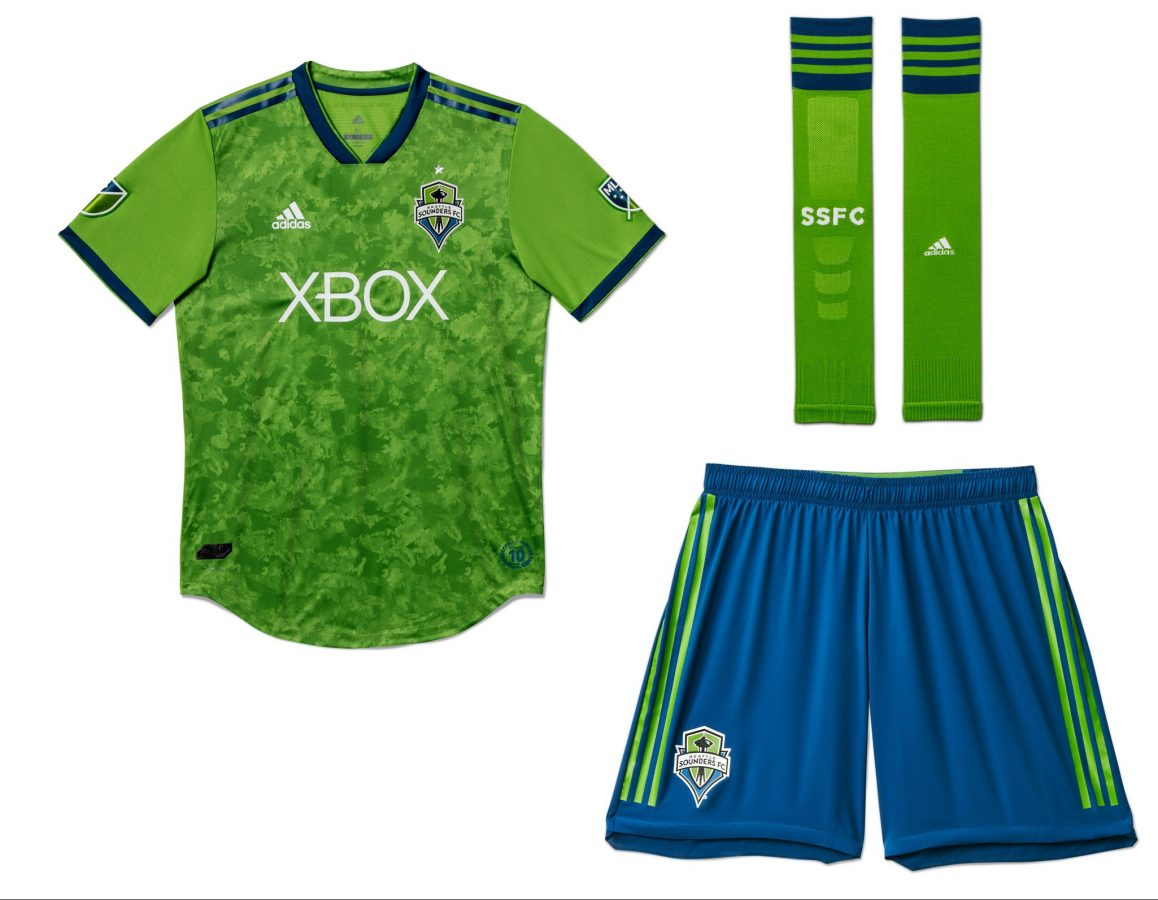 promo code 87bcd 2f562 Seattle Sounders FC 2018 adidas Home Jersey - Football Fashion