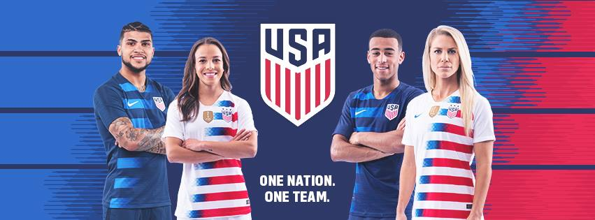reputable site 6753a 58016 USA 2018/19 Nike Home and Away Jerseys - FOOTBALL FASHION.ORG