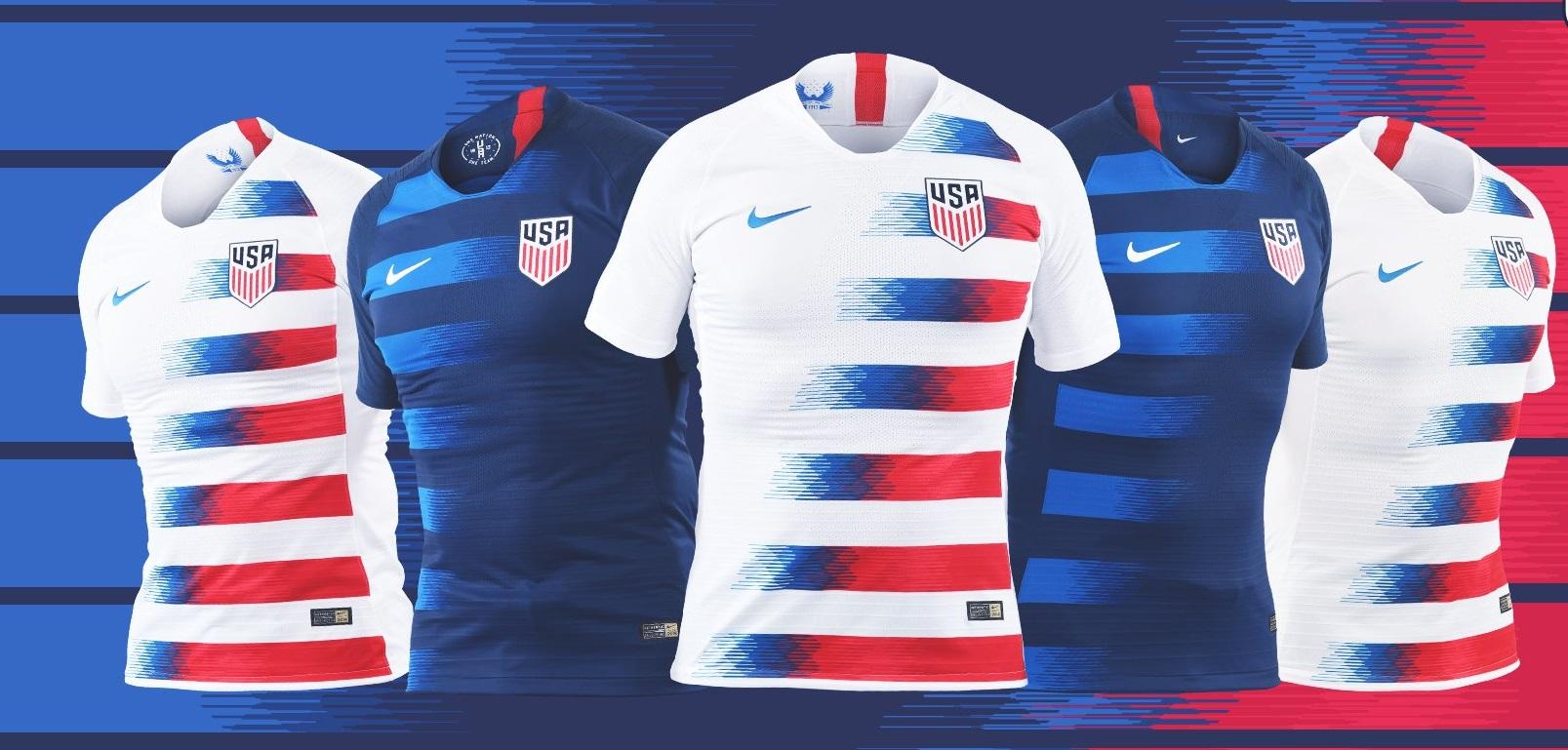 8e1c6dfbc11 USA 2018 19 Nike Home and Away Jerseys - FOOTBALL FASHION.ORG