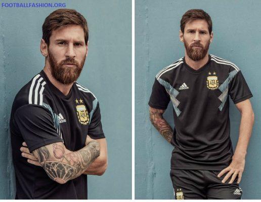 Argentina 2018 World Cup adidas Away Football Kit, Soccer Jersey, Shirt, Camiseta, Equipacion, Copa Mundial