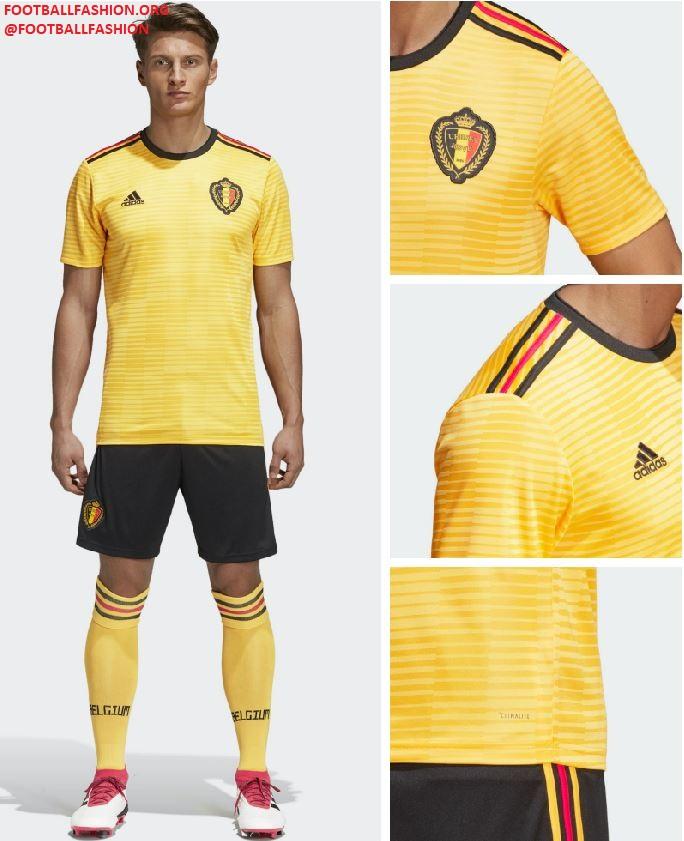 2f499ca45 Belgium 2018 World Cup adidas Yellow Away Football Kit, Soccer Jersey,  Shirt, Maillot
