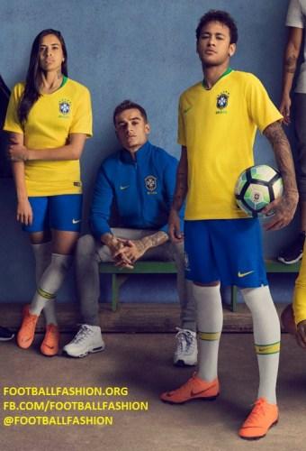 Brazil 2018 World Cup Nike Home and Away Kits – FOOTBALL ...
