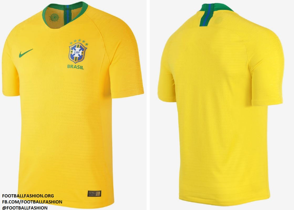 Brazil 2018 World Cup Nike Home and Away Kits – FOOTBALL FASHION.ORG 1d39b5de5