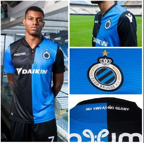 Club Brugge 2018 Playoff Macron Football Shirt, Soccer Jersey, Kit, Tenue, Maillot