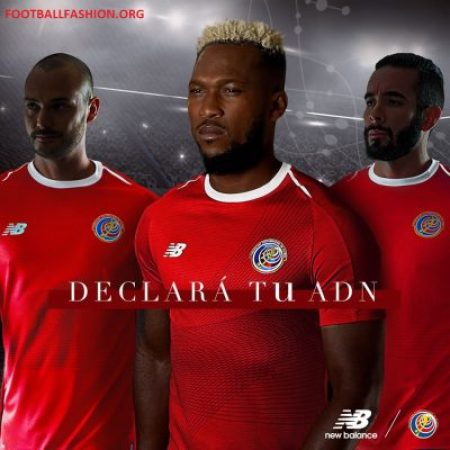 Costa Rica 2018 World Cup New Balance Red Home Football Kit, Soccer Jersey, Shirt, Camiseta de Futbol Copa Mundial Rusia, Equipacion
